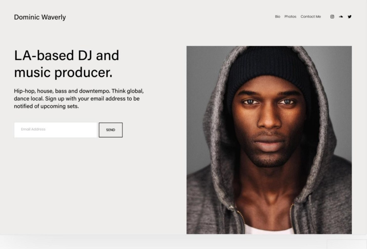 Squarespace Waverly template