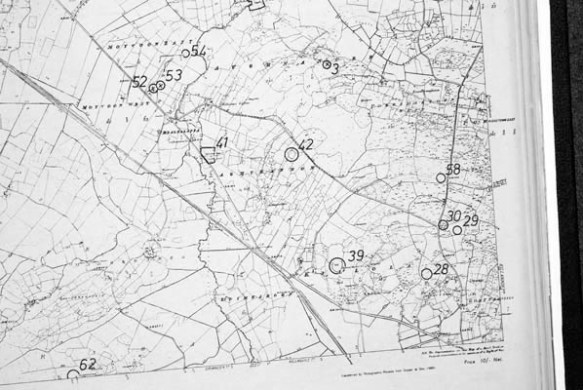 Monument map 1930  Detail  Laghtgannon   Oughterard Heritage Monument map 1930  Detail  Laghtgannon