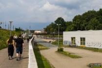 Am 11. Juli wurde dann der erste Rundgang um die künftige Baustelle unternommen. Hier soll einmal der Bahnhofsvorplatz entstehen, bzw. das Empfangsgebäude..