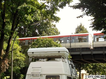 U3-Betriebsstörung am 17.7.2014: Schadhafter Zug auf der Leinpfad-Brücke 10/29