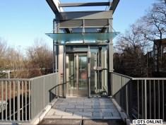 Der Aufzug oben