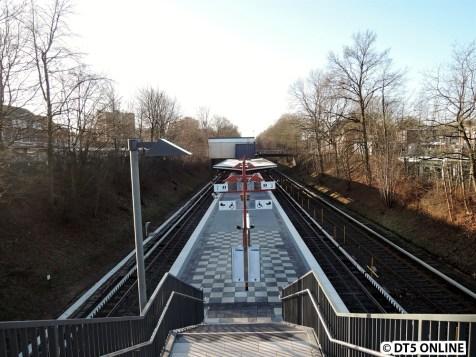 Blick auf den Bahnsteig