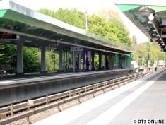 Der Bahnsteig in Richtung Schlump bzw. Norderstedt Mitte