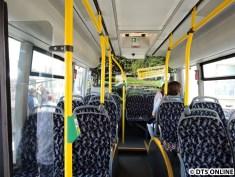 In diesem Bus kann man nicht hinten hinaussehen...