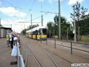 Hinter der Wagenhalle konnte man die Straßenbahn selbst fahren.