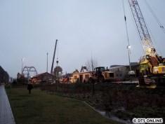 Die Baustelle im Überblick. Die Witterung und der Einbruch der Dunkelheit verhinderten leider noch eine Aufnahme vom U3-Viadukt aus.