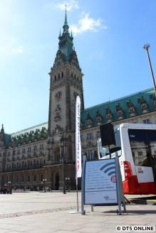 HOCHBAHN-WLAN wird heute auf dem Rathausmarkt vorgestellt