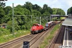 Es geht von der Güterumgehungsbahn weiter in Richtung Ohlsdorf.