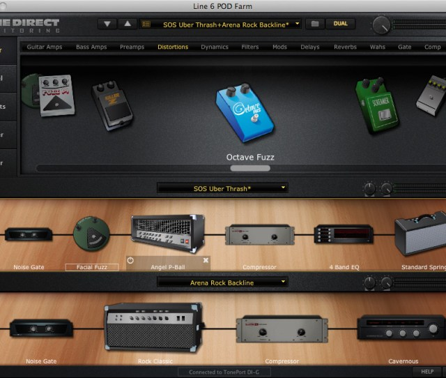 Pod Farm Includes A Good Range Of Effects You Can Select Up To Two To