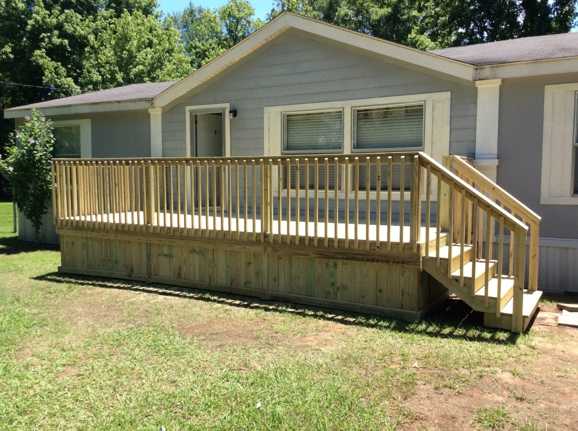 Ready Deck Gallery Ready Decks | Wood Mobile Home Steps | Wooden | Pool | Outdoor | 8X12 Porch | Concrete