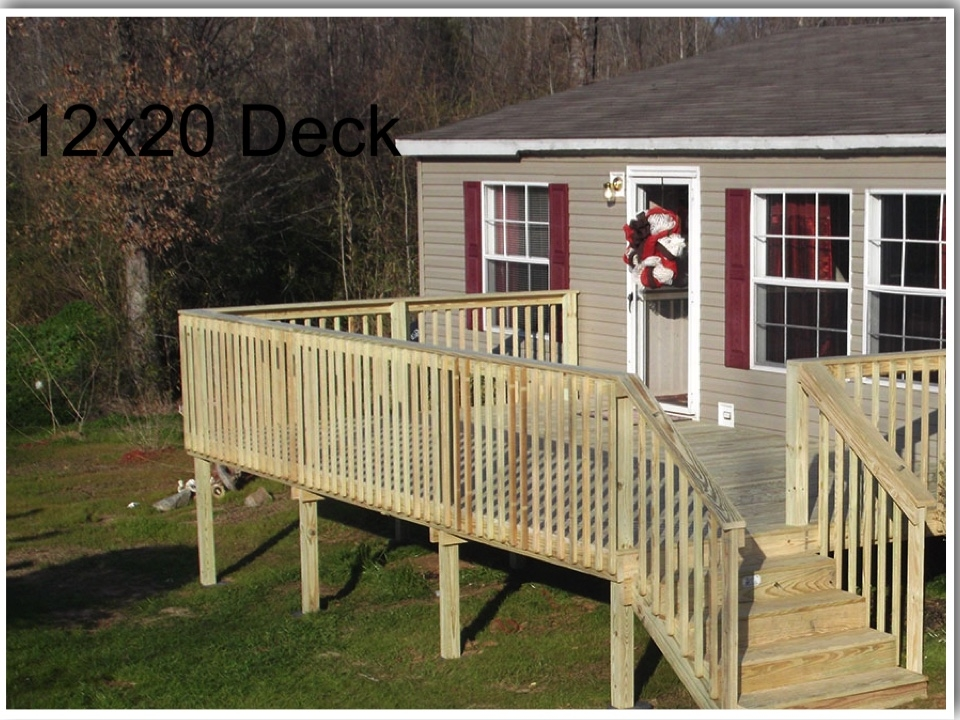 Deck For Mobile Home Deck Installer Deck Building Contractor   Outside Stairs For Mobile Home   Front Door   Wood   Trailer   Fiberglass   Decks