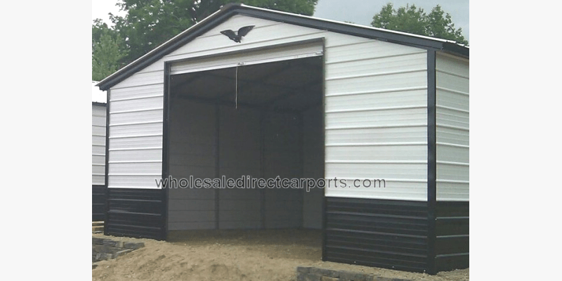 Enclosed Metal Garages For The Perfect Metal Garage Contact Us Wholesale Direct Carports