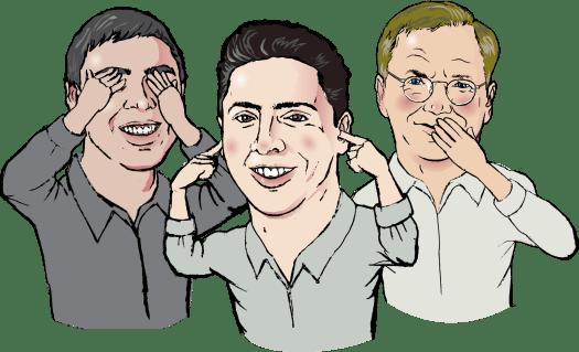 Caricatura de amigos realizado por Caricaturistas