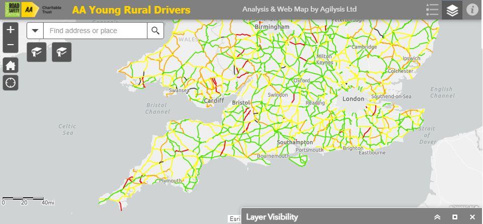 Interactive map: UK's deadliest rural roads revealed