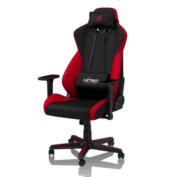 Remarkable S300 Fabric Gaming Chair Inferno Red Dtec Computers Lamtechconsult Wood Chair Design Ideas Lamtechconsultcom