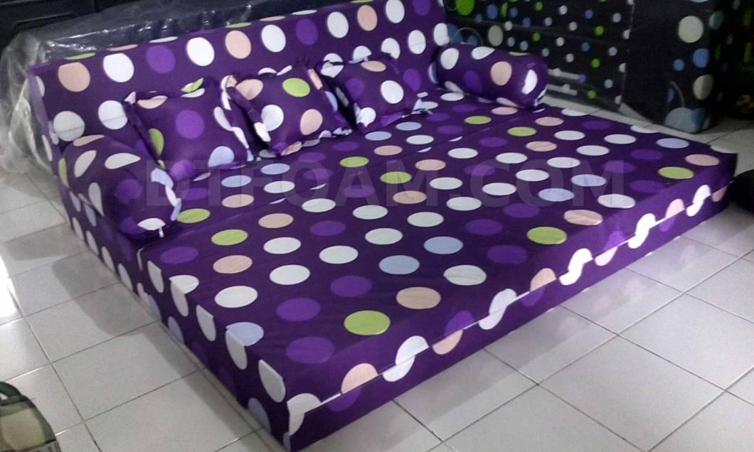 Sofa Bed Inoac Polkadot Ungu Buble 3 Dtfoam Com