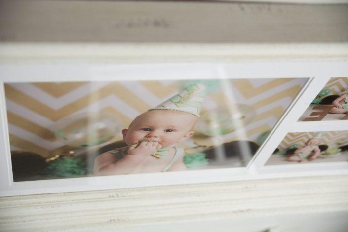 1st birthday cake smash glasgow - framed print