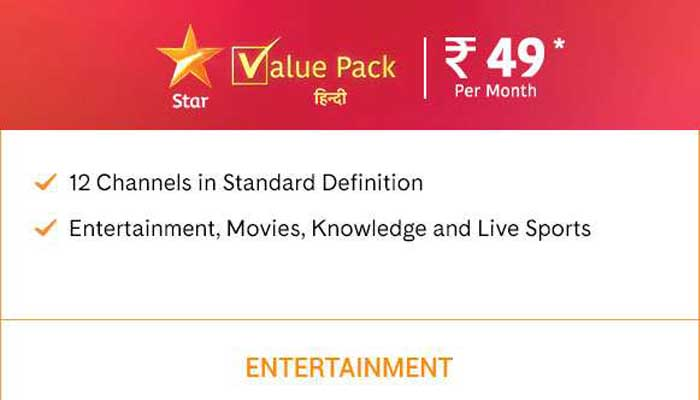 Star Value Pack 49 Channel List
