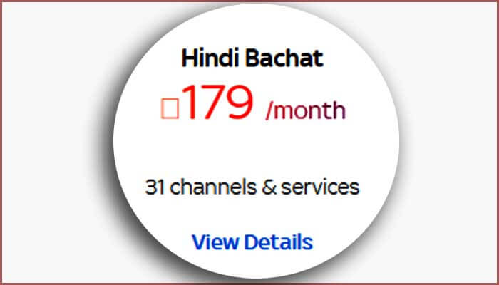 Tata Sky 179 Pack, Hindi Bachat Pack, Channel List