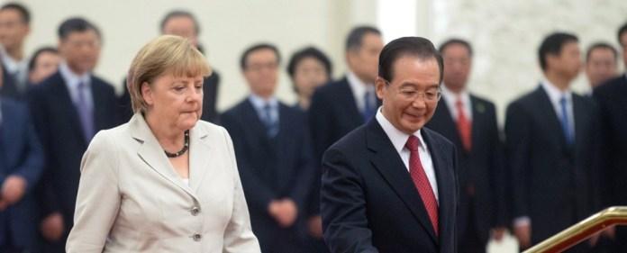 Merkel wirbt in Eurokrise um Chinas Vertrauen