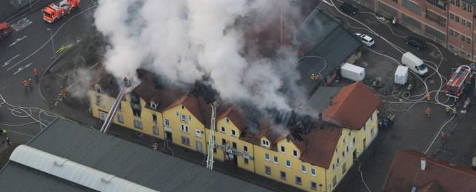 Großbrand in Backnang wohl von Zigaretten ausgelöst