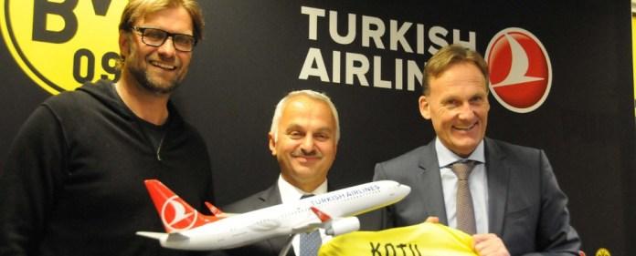 Borussen fliegen mit Turkish Airlines zum Finale in Wembley