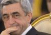 Der armenische Staatspräsident Sersch Sargsjan wurde im Februar im Amt bestätigt.