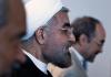 Der iranische Präsident Ruhani auf dem Weg zu einer Pressekonferenz