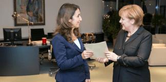 Aydan Özoguz und Angela Merkel