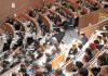 Studenten in einem Hörsaal.