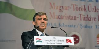 der türkische Staatspräsident in Budapest.