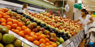 Obst im Supermarkt.