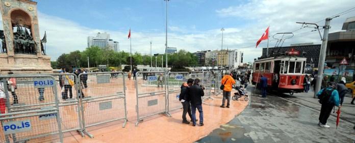 Der Taksim-Platz in Istanbul ist seit Tagen gesperrt. Am Tag der Arbeit darf dort nicht demonstriert.