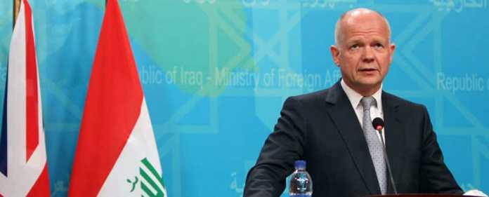 Der Secretary of State for Foreign and Commonwealth Affairs von Großbritannien, William Hague.