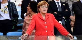 Bundeskanzlerin Angela Merkel während des WM-Finale 2014. Merkel feiert heute ihren 60. Geburtstag.