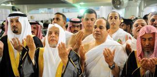 Al-Arabiya zufolge nutzte al-Sisi die Reise anscheinend auch dazu, um die kleine Pilgerfahrt (Umra) durchzuführen. Von offizieller Seite verbreitete Bilder zeigten den ehemaligen Oberkommandierenden des ägyptischen Militärs in Mekka. (dpa)