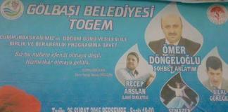 """Die Stadtverwaltung von Gölbaşı in Aydiman lädt zum """"heiligen Geburtstag"""" von Präsidenten Erdogan ein."""