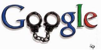 Google Logo mit Handschnelle