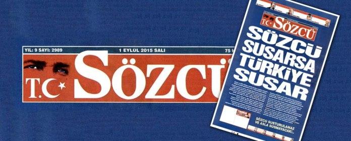 Titelblatt der Tageszeitung Sözcü vom 01.09.2015