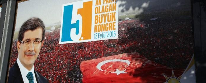 Plakat zum AKP-Parteitag am 12.09.2015