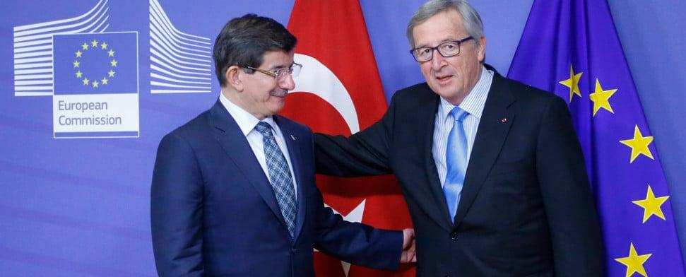 Ahmet Davutoğlu und Jean-Claude Juncker