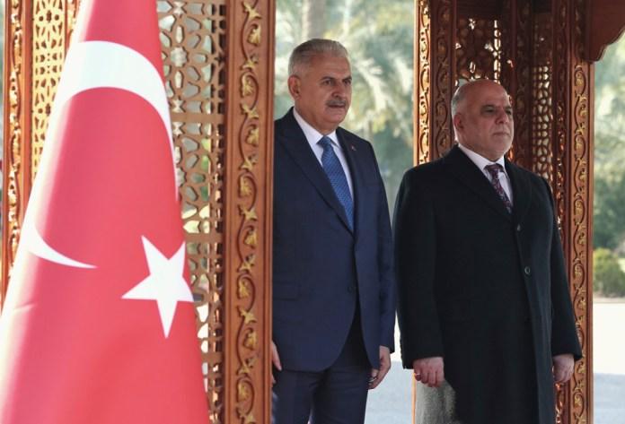 der türkische Premierminister Binali Yildirim bei seinem Staatsbesuch im Irak