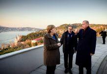 Kanzlerin Angela Merkel zu Besuch bei Erdogan.