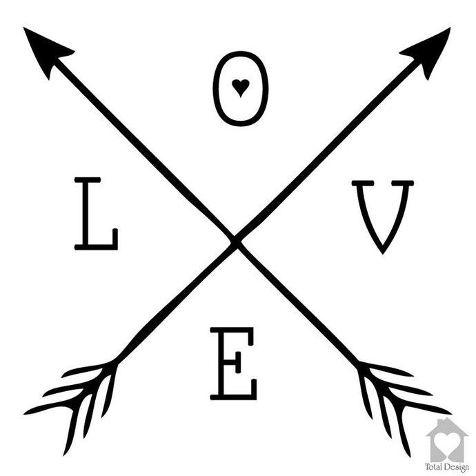 Download LOVE - Vinyl Arrows Wall Decor Arrow by TotalVinylDesign ...
