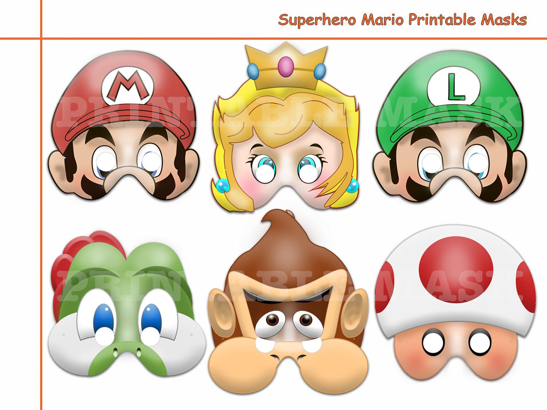 Unique Hero Mario Printable Masks