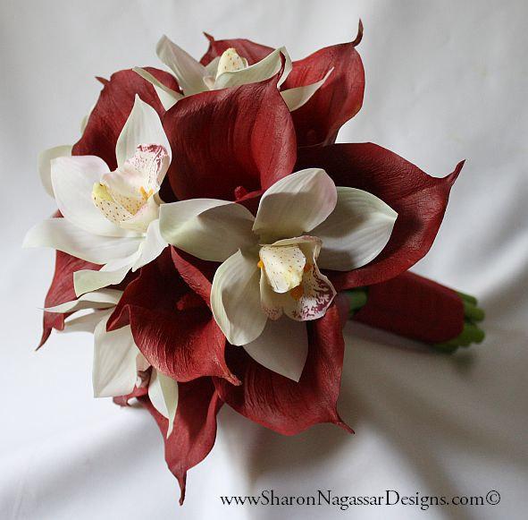 Burgundy Crimson Red Ivory By Sharon Nagassar Designs