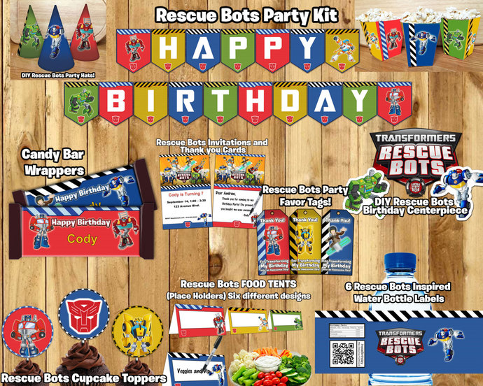 Rescue Bots Birthday Party Kit Download Instbirthday
