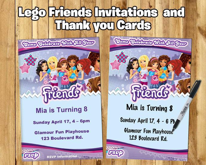 diy lego friends inspired invite download customize print lego friends invitation lego friends birthday party invitation lego birthday