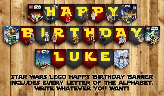 Lego Star Wars Happy Birthday Banner Instbirthday