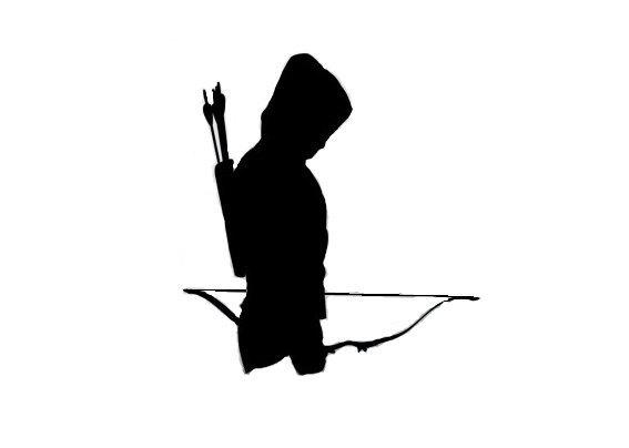 Girl Bow Hunter Silhouette